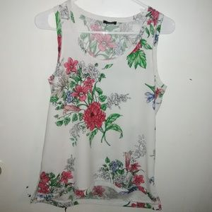 Ann Taylor floral sleeveless top.